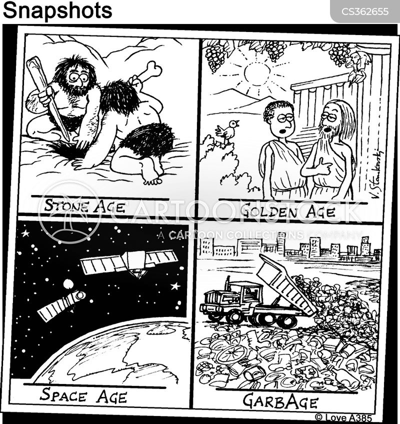 rubbish dump cartoon
