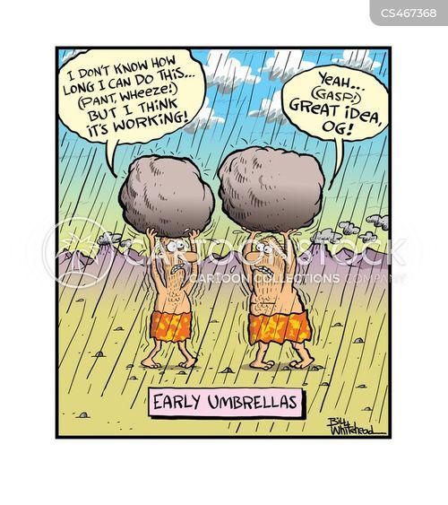 keeping dry cartoon