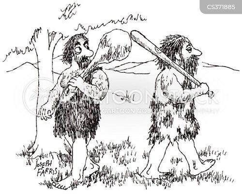 hunting and gathering cartoon