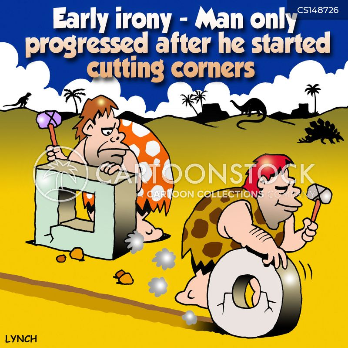 cut corners cartoon