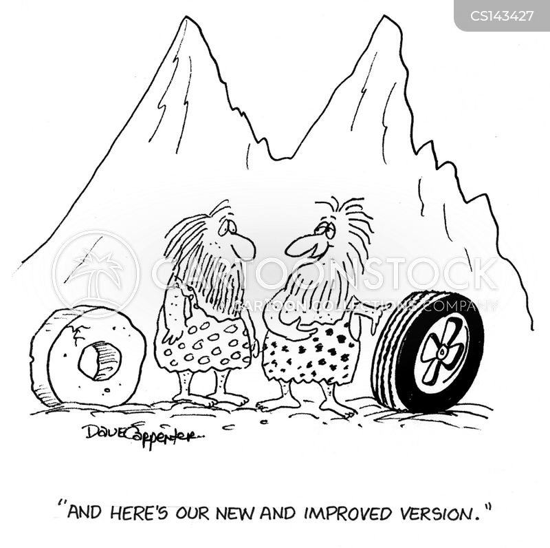 inventing the wheel cartoon