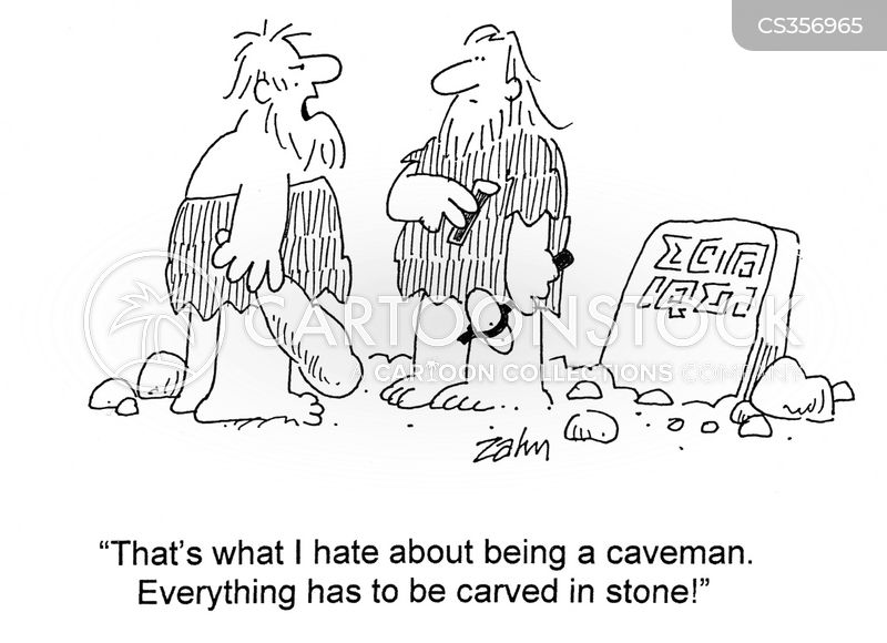 carved in stone cartoon