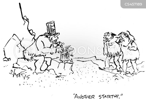 start up cartoon