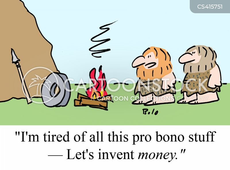 Money Barter System Bartering System Cartoon 2 of