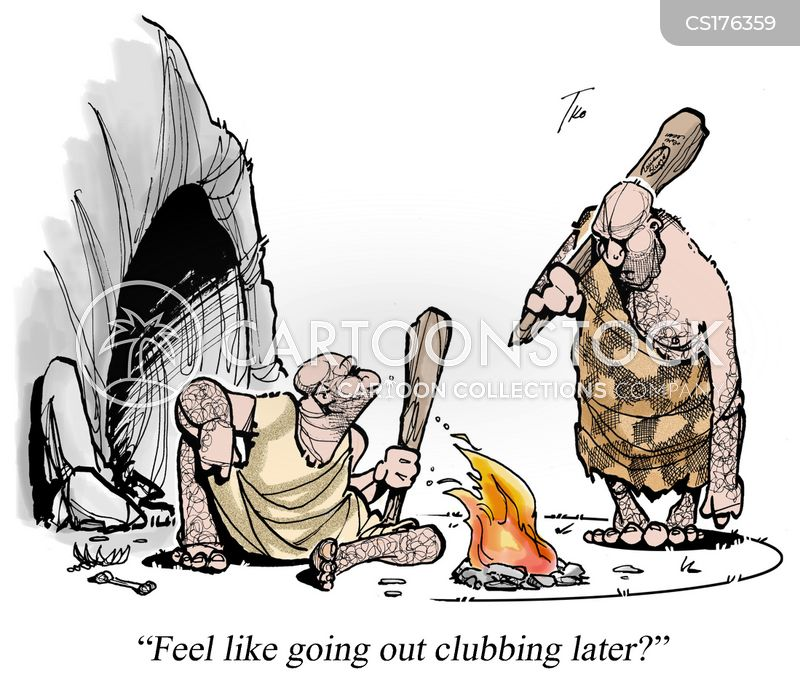 going clubbing cartoon
