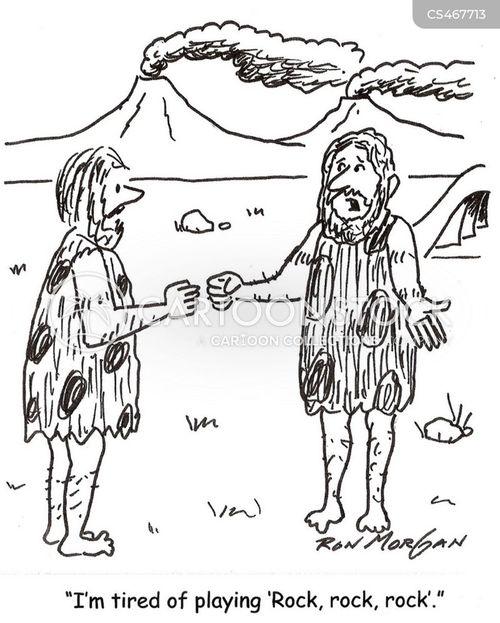 rock-paper-scissors cartoon