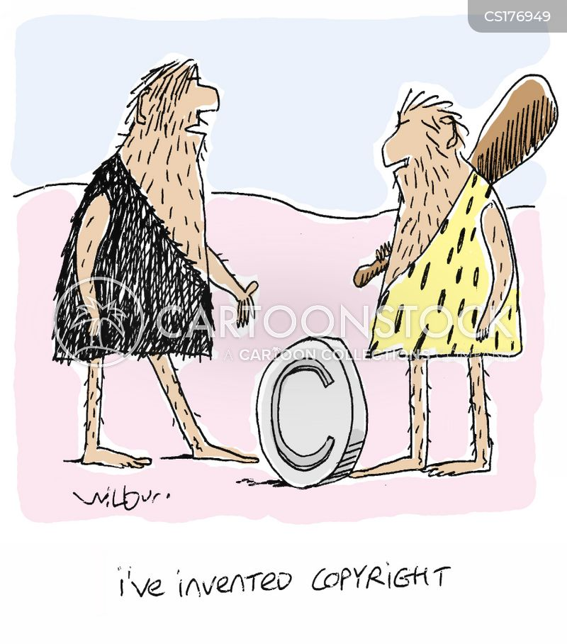 copyright symbols cartoon