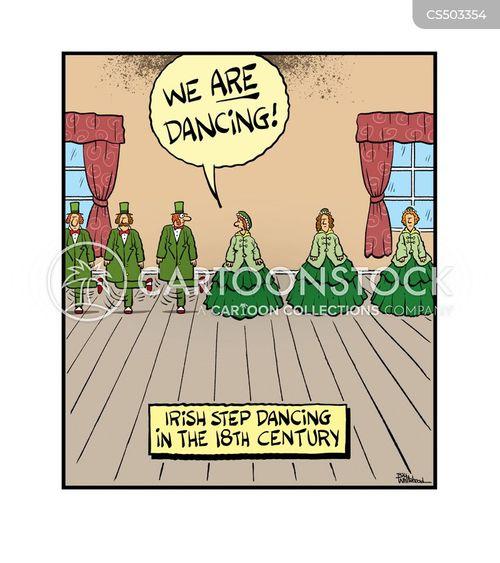 irish dancers cartoon