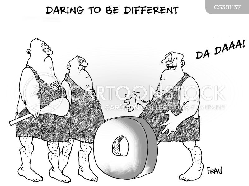 daring to be different cartoon