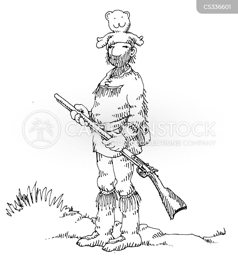 frontiersman cartoon