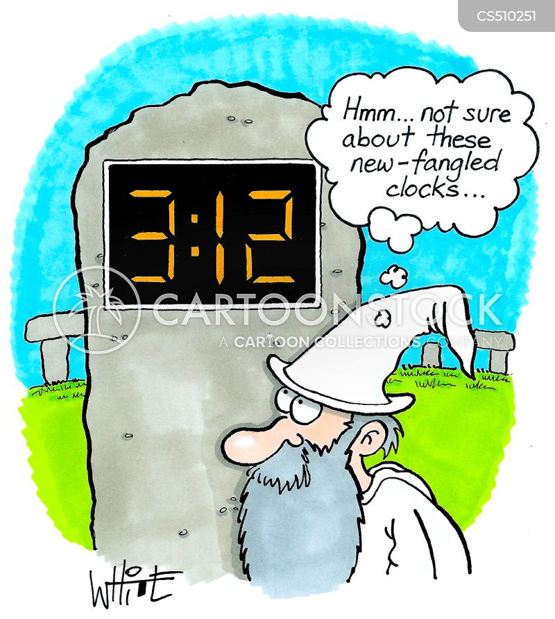 digital clocks cartoon