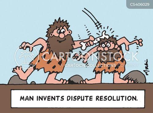 homem inventa a resolução de litígios