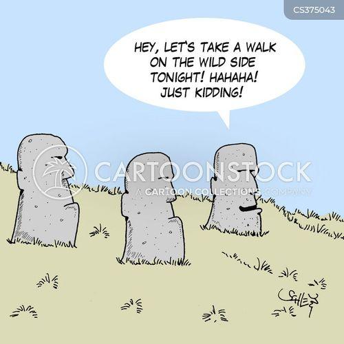 stone head cartoon