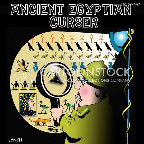 egyptian curse cartoon