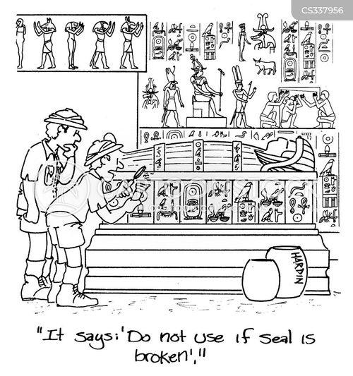 egyptian tombs cartoon
