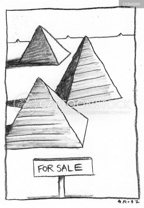 the pyramids cartoon