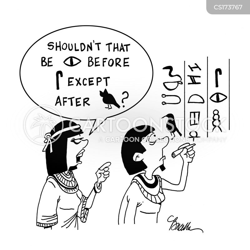 egyptology cartoon