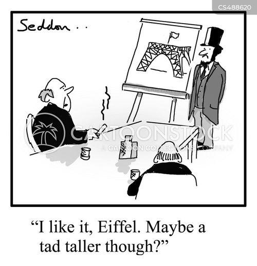gustave eiffel cartoon