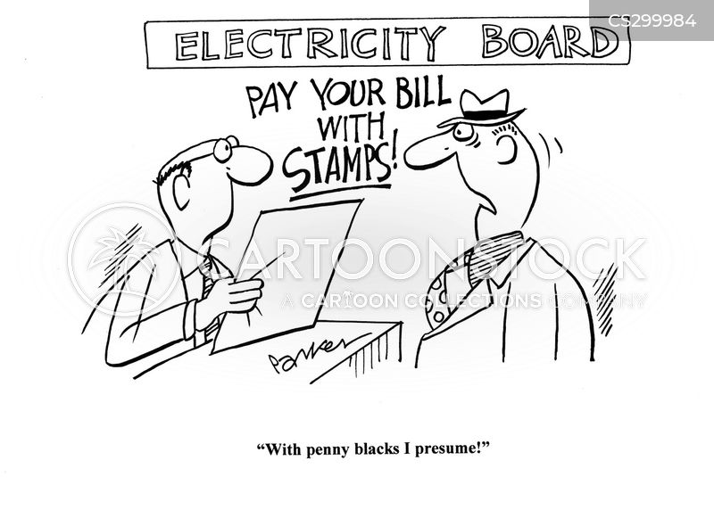 old stamps cartoon