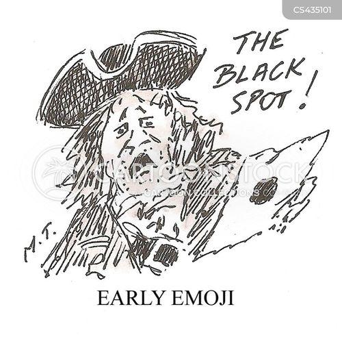 black spot cartoon