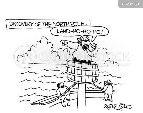 the north pole cartoon