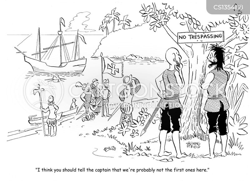 discovery of america cartoon