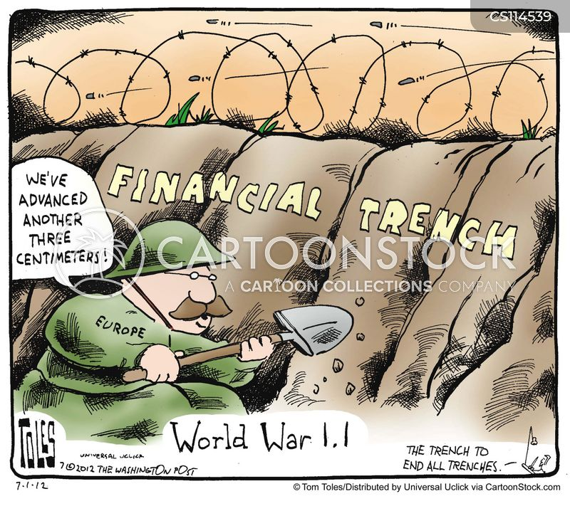 financial downturns cartoon