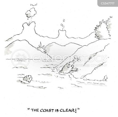 the coast is clear cartoon