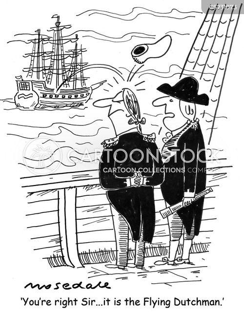 flying dutchman cartoon