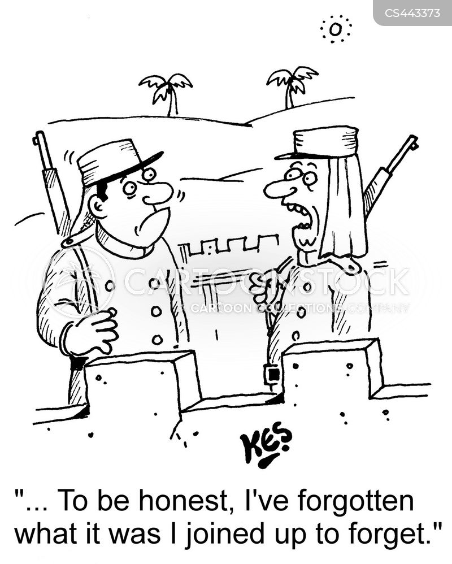 military service cartoon