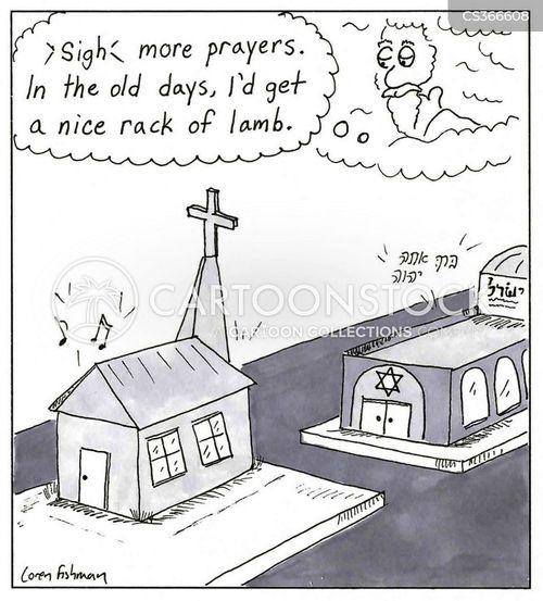 synagogue cartoon