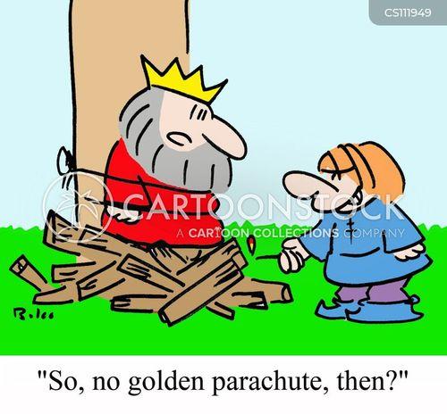 golden parachutes cartoon