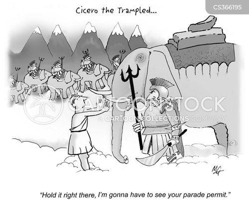 parading cartoon