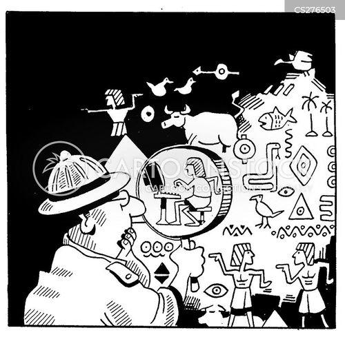 hieroglyphs cartoon