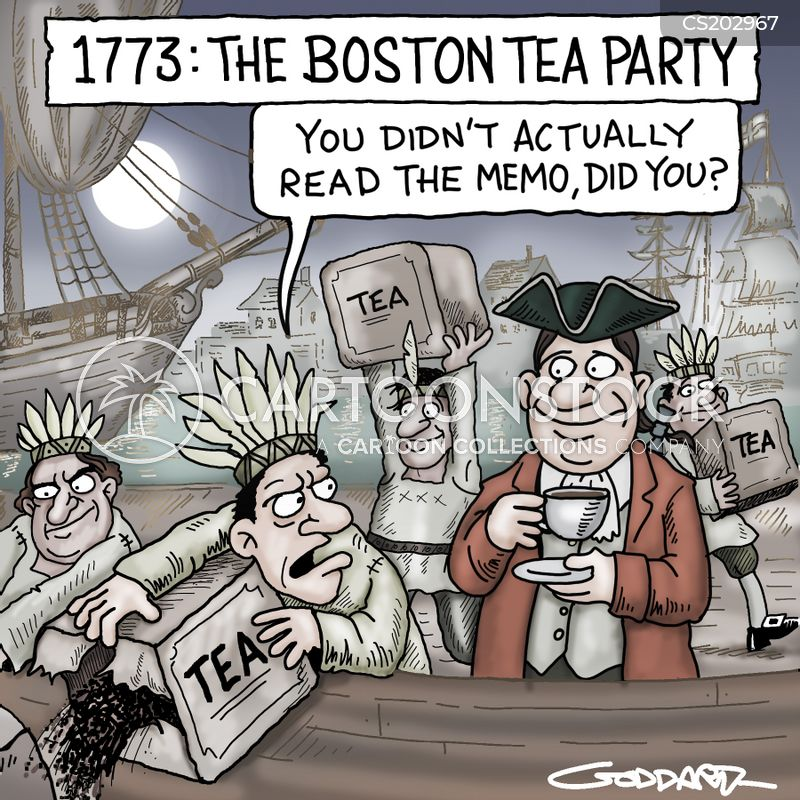 tea tax cartoon