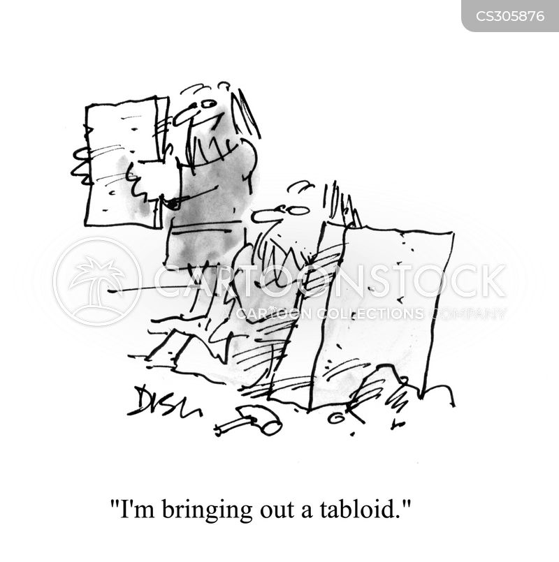 tabloid newspaper cartoon