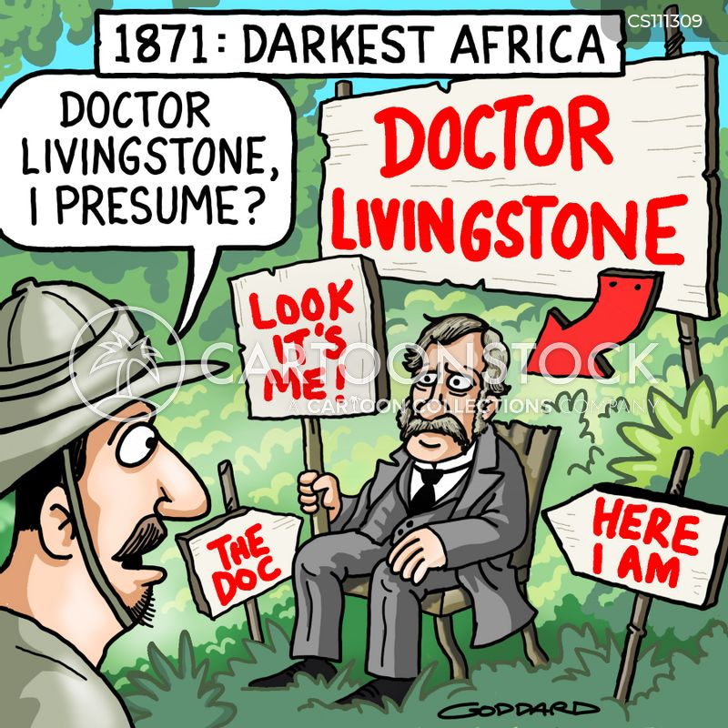 Lovely CartoonStock  Dr Livingstone I Presume Book