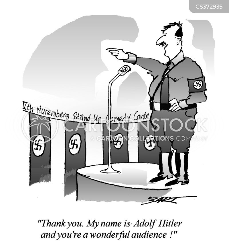 adolf hitler cartoon