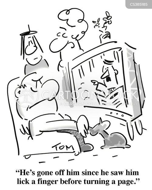 licks cartoon