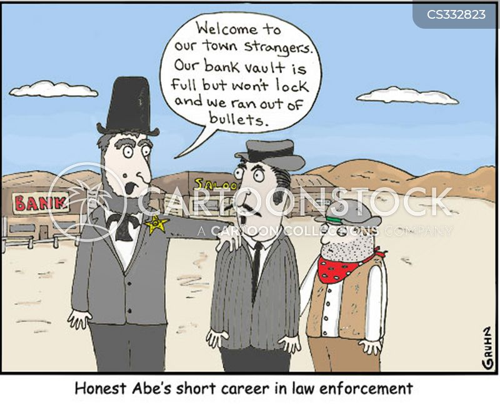 honest abe cartoon