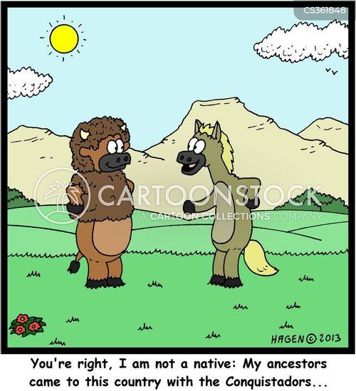 conquistador cartoon