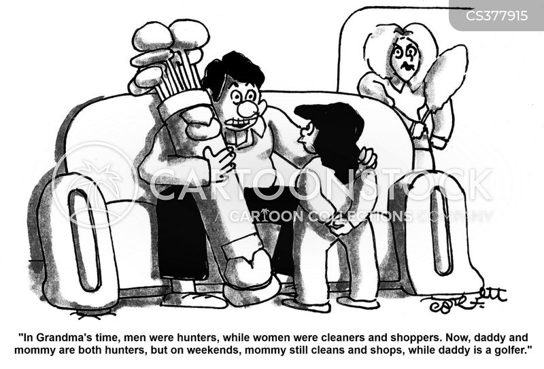 traditional roles cartoon