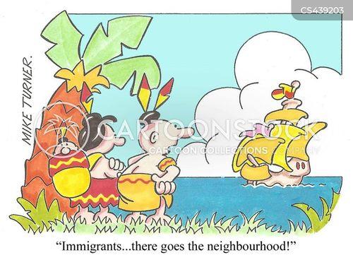colonisation cartoon