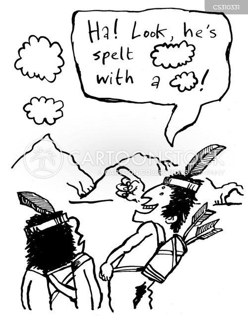 spelt cartoon