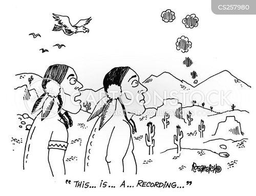 recorded message cartoon
