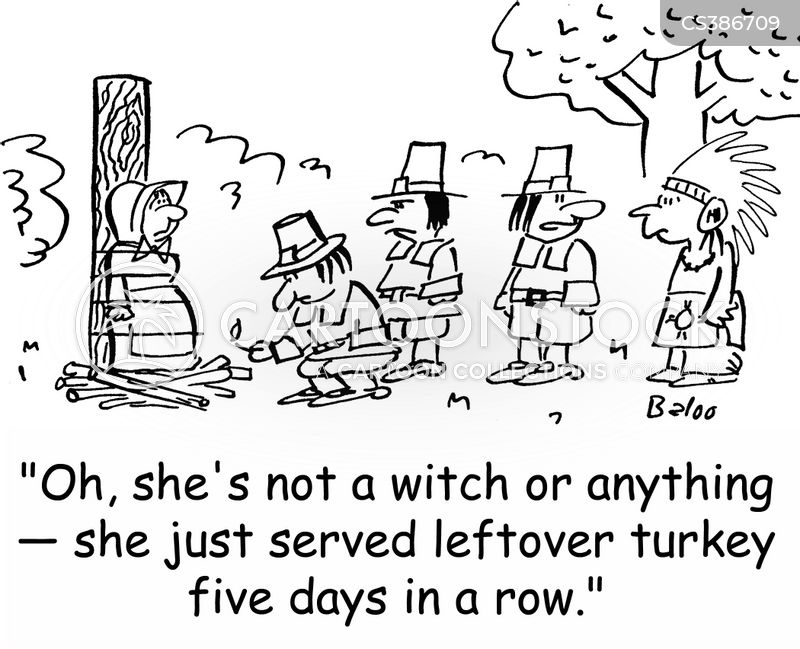 witch burnings cartoon