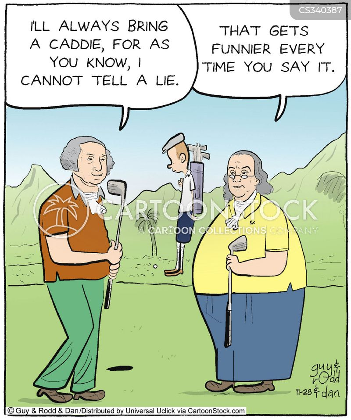 golfing puns cartoon