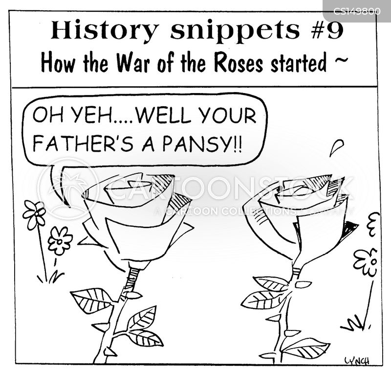 war of the roses cartoon