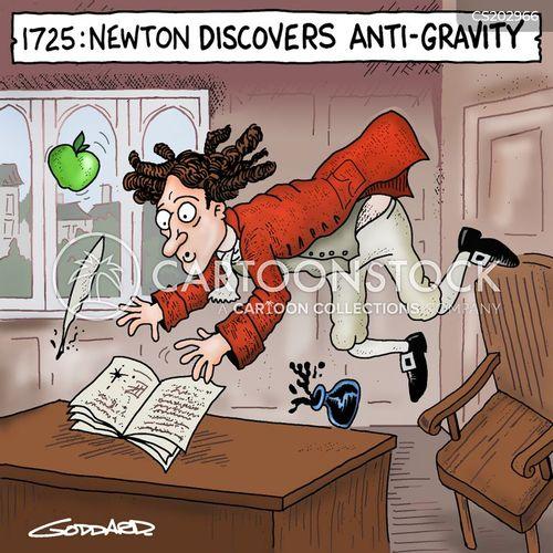 laws of gravity cartoon