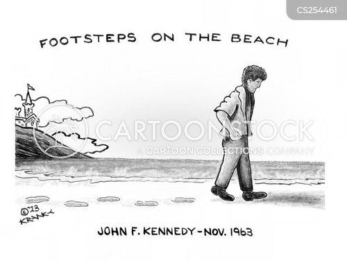 president kennedy cartoon